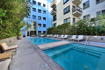 Pool area at Aloft at Cortez Hills Lofts